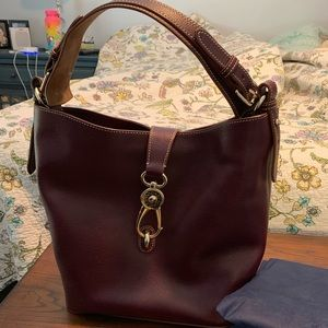 Dooney and Bourke Burgundy Shoulder Handbag